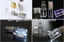 2012 latest,Luminous body Crystal usb flash drive