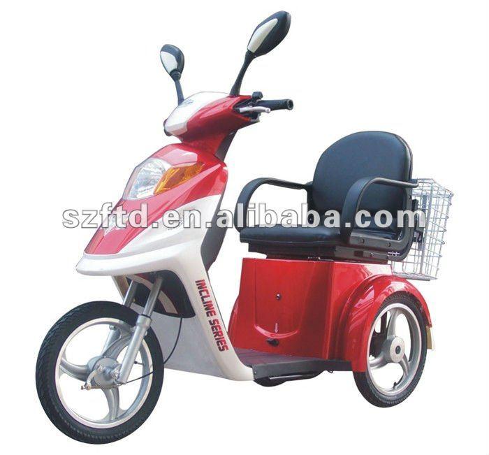 bicicleta elétrica deficiente de 3 rodas