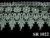 Organza lace trim / cotton embroidery lace trim