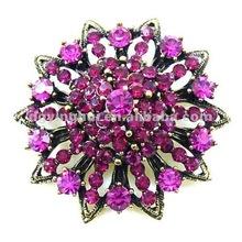 Fashion Flower Rhinestone Brooch For Wedding