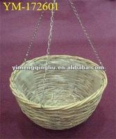wicker hanging plant basket