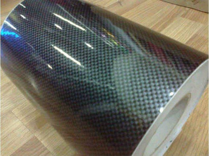 2D fibra de carbono etiqueta, Marrom cor preta