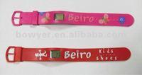 cheap promotional digital watch, children silicon wristband watch