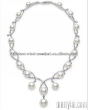 2012 Fashion gold long chain pearl necklace (ML-12-YO0911-022)