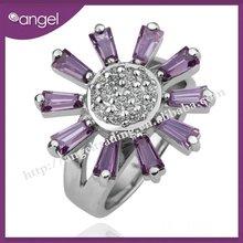2012 latest flower design ring for wedding bands