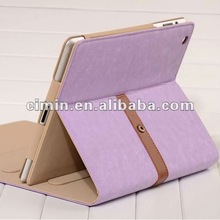 New Fashion design from korea stand case for ipad with belt