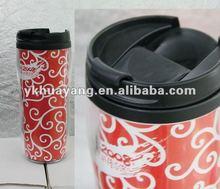 Travel stainless inner plastic outer paper insert mug