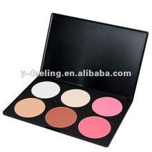New 6 Color Makeup Face Powder Foundation & Blusher Palette 02#