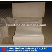 Bush hammered White limestone flooring tiles