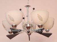 MODERN 5 LIGHT GLASS UP HOUSE PENDANT LAMP