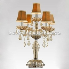 New Arrival 5 Light Crystal Desk Lamp with Lampshades MT10041