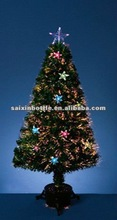 2012 NEW DESIGN christmas tree 60-240cm Double red bell LanGong green LED bowknot top star grinding optical fiber tree