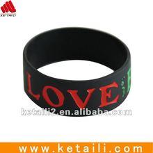 2012 Custom silicone rubber wristband
