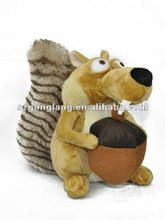 Ice Age 3 SCRAT Squirrel Stuffed soft Plush toy 22cm NEW