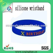 2012 fashionable promotional bule silicone wrist bands/bangle manufacture