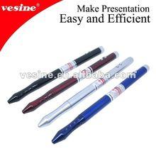 Checking pen Five function metal Laser pen LP2100silver laser pointer pen with led light