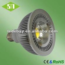 2012 new light dimmable cob par38 led light bulb 120v