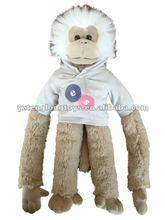 2012 hot inquired lovely design plush stuffed monkey toy