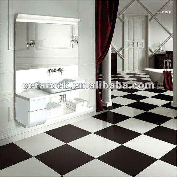 Oscuro negro r stico de la porcelana azulejos del ba o - Azulejos de bano rusticos ...