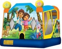2012 Cheap inflatable DORA & DIEGO bouncy castle for backyard
