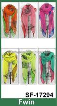 fashion leopard print women polyester scarf 2012