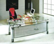 Clear Glass Table,Office Design, Glass Office Desktop Tables(FOHYTJ-8077)