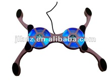 """2012 Hottest Octopus plastic laptop cooler pad for 7"""" -11""""notebook with two fans"""