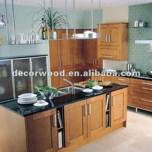 De color marrón oscuro color roble del gabinete de cocinaArmarios