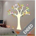 Birds&Tree Mural Art Removable Decals Wall Sticker Kids Nursery