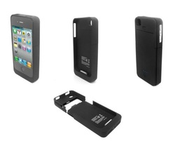 Protective hard case with external battery for iphone 4