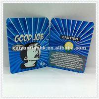Blue apperance & hot sell small plastic foil zipper bag --Good job DANNY
