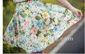 2012 impreso de moda elegent ladies'skirt modelos, falda de gasa