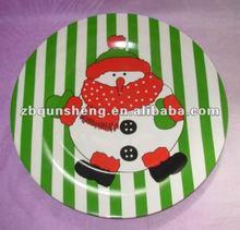 decal 12''/10''/8'' plate/ ceramic snowman dinnerware set