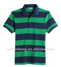 Stripe/Y/D jersey 100% cotton 18ogrs men's polo shirts