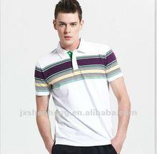 Stripe/Y/D jersey 100% cotton 18ogrs men's polo t-shirts