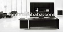 High End Luxury Black Laminate Wood CEO Office Furniture, Modern Design Office Furniture(FOHZB-32E)