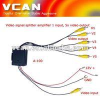Video Distribution Amplifier/ Video Signal Booster RCA splitter :A-100