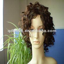 Hot Sale Beautiful Fashion Curly Virgin Brazilian Hair Full Lace Wig