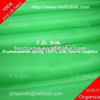 F.D.Dyed ivory silk organza fabric