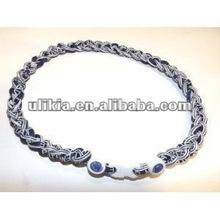 Penn State Nittany Lions (3Rope)braided titanium baseball necklace