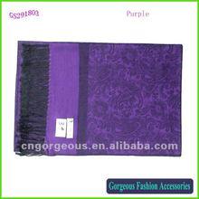 2012 Pashmina scarf purple
