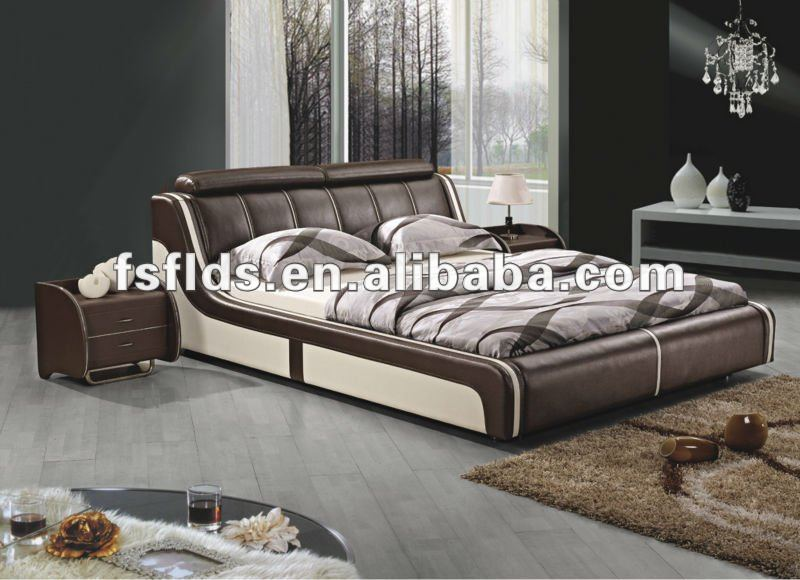 ... per la casa di design alla moda puce camera da letto in pelle letto