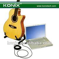 6.3mm (semi-diameter) jack or XLR plugwith Mac OS X, Windows usb guitar bass link