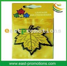 leaf shaped paper indoor air freshener for car