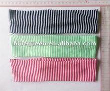 fashion stripe printed fabric sport headbands