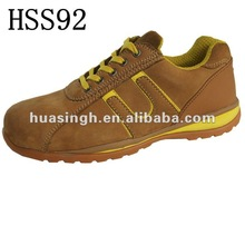 tan honey color safety plastic toe motor corporation used top quality safety trainers
