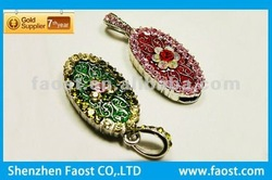 hot sell promotional gift crystal necklace usb flash driver