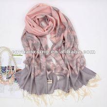 100% real silk scarf
