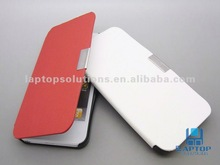 Stylish super slim filp book style soft leather case for iPhone 5