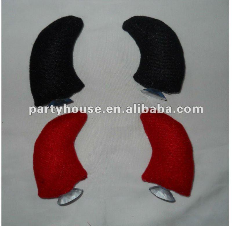 Helmet Devil Horns Fashion Plush Devil Horn For